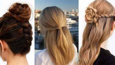 تصویر مدل موهای ساده و شیک دخترانه
