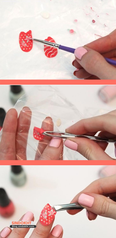 طریقه استفاده از برچسب ناخن (لنز ناخن)