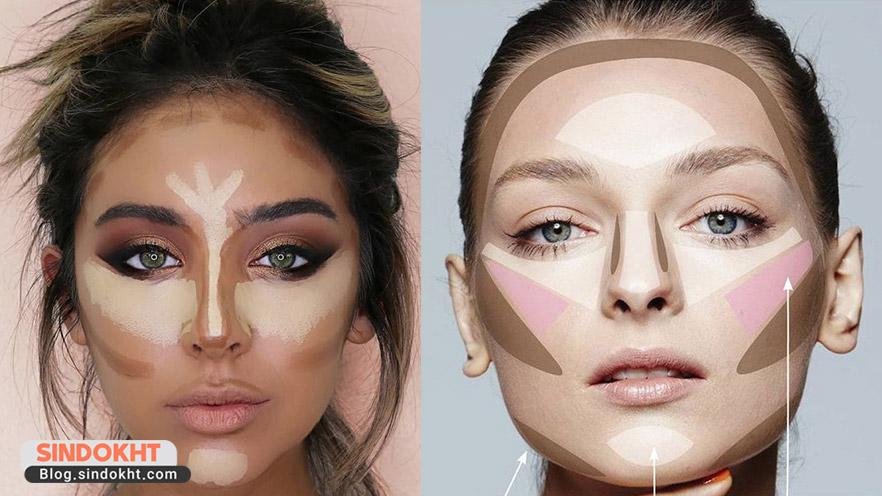 کاربرد کرم پودر برای زاویه سازی چهره
